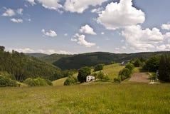 Beuatiful Beskydy berg landskap Royaltyfri Bild