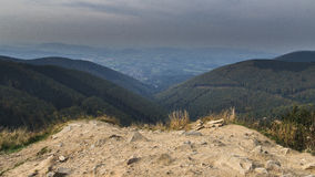 Beskydy hills. View to Beskydy hills in Czech republic Stock Photography