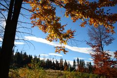 Beskydy mountains during autumn Stock Image