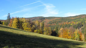 Beskydy mountains in autumn Royalty Free Stock Photo