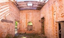Beslå huset i Darlington på Maria Island, Tasmanien, Australien Arkivfoton