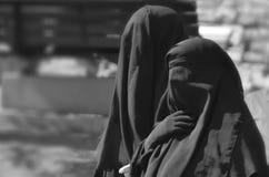 Beslöjad kvinna för muselman Arkivbild