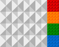 Beslagen, geometrische tegels Reeks van meer kleur royalty-vrije illustratie