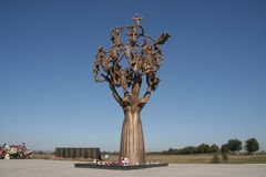 Beslan, árbol del dolor fotos de archivo libres de regalías