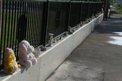 Beslan school memorial, where terrorist attack was in 2004 Royalty Free Stock Photography