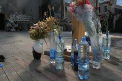Beslan-Schuldenkmal, wo Terroranschlag im Jahre 2004 war- Lizenzfreie Stockfotos