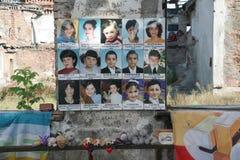 Beslan-Schuldenkmal, wo Terroranschlag im Jahre 2004 war- Lizenzfreies Stockbild