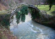 Besletskybrug, sinds de tijd van Koningin Tamara, dichtbij Sukhumi royalty-vrije stock afbeelding