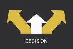 Besluit die - concept en oplossingsidee maken stock illustratie