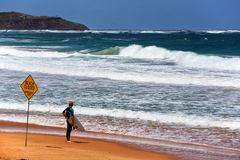 Besluittijd voor een surfer van Sydney Royalty-vrije Stock Afbeelding