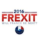 Beslut för FREXIT Frankrike som lämnar EU vektor illustrationer