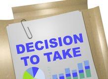 Beslut som tar begrepp stock illustrationer