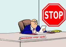 Beslut stoppar här vektor illustrationer