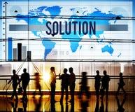 Beslutet för lösningsproblemlösning svarar begrepp Arkivfoton