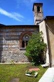 besnate老教会砖的ste意大利伦巴第 库存图片