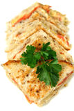 Besnoeiing Geroosterde Sandwiches Stock Foto's
