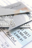 Besnoeiing op creditcard Stock Foto