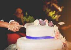 Besnoeiing van cake Royalty-vrije Stock Afbeeldingen
