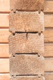 Besnoeiing van houten muur van huis Royalty-vrije Stock Afbeeldingen