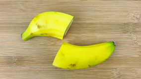 Besnoeiings rijpe bananen Stock Fotografie