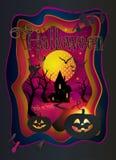 Besnoeiingsdocument 3D Art Halloween stock illustratie