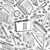 Besnovny与另外文具的冯school 免版税库存图片