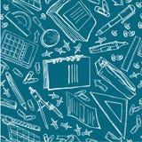 Besnovny与另外文具的冯school 免版税库存照片