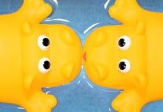 Beso amarillo Imagen de archivo libre de regalías
