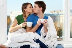 Beso caliente Foto de archivo libre de regalías
