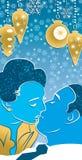 Beso de la Navidad Imagenes de archivo