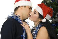 Beso de la Navidad Fotografía de archivo