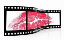 Beso de la pantalla Stock de ilustración
