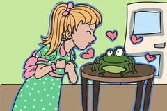 Beso de la rana ilustración del vector