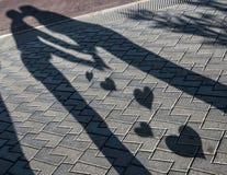 Beso de la sombra Imágenes de archivo libres de regalías