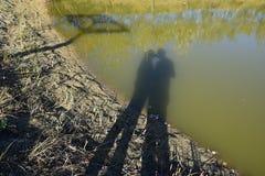 Beso de la sombra Fotografía de archivo libre de regalías