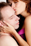 Beso de los pares Fotografía de archivo libre de regalías