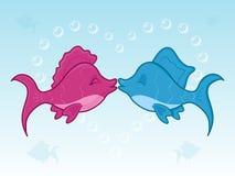 Beso de los pescados Imagen de archivo libre de regalías