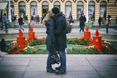 Beso del advenimiento Imagen de archivo libre de regalías