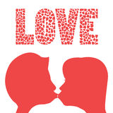 Beso del amor Foto de archivo