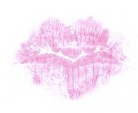 Beso del lápiz labial imágenes de archivo libres de regalías