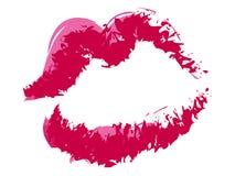 Beso del lápiz labial Imagen de archivo libre de regalías