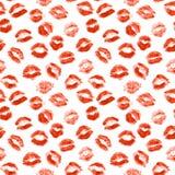 Beso del lápiz labial Foto de archivo libre de regalías
