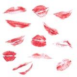 Beso del lápiz labial Fotos de archivo