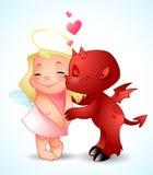 Beso del pequeño demonio Foto de archivo libre de regalías