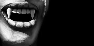 Beso del vampiro Imagen de archivo