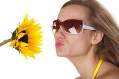 Beso del verano Imagen de archivo libre de regalías