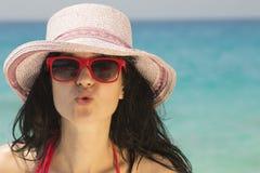 Beso del verano Foto de archivo libre de regalías