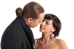 Beso dulce Fotografía de archivo