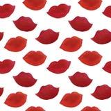 Beso exhausto de la barra de labios del ejemplo de la moda de la acuarela de la mano fotografía de archivo
