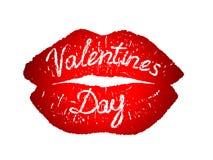 Beso festivo del día de tarjeta del día de San Valentín stock de ilustración